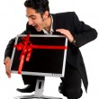 Successful businessman buy monitor. — Foto Stock