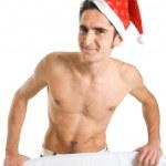 Christmas man. — Stock Photo