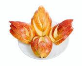 Trozo de manzana roja — Foto de Stock