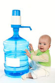 Large bottle of clean drinking water. — Stock Photo