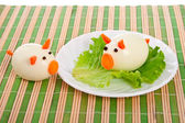 Lettuce and egg. — 图库照片