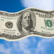 Stock Photo: Fluttering dollar