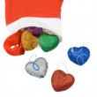 Stock Photo: Christmas Hearts.