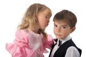 Enfants. fascinante paire — Photo