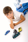 Boy with toys. — Stock Photo