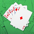 Постер, плакат: Cards and pack of playing cards