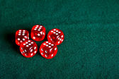 Dices on the table. — Stock Photo