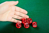 Dices in the hand — Stock Photo