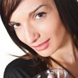 Young woman with wine in glass. — Stock Photo