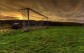 Forgoten football field — Stock Photo