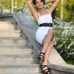 Elegant Stylish Woman — Stock Photo