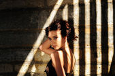 Seductive Woman In The Shadows — Stock Photo