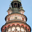 Decorated castle tower in Cesky Krumlov, Czech Republic. UNESCO — Stock Photo
