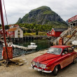 Small Norwegian fishing village — Stock Photo