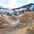 Landmannalaugar rainbow mountains, popular tourist spot in Iceland — Stock Photo