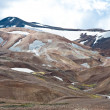 Stock Photo: Colorful mountains in Iceland, hot springs and deserted with no vegetation at all
