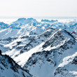 Mountaintops in winter, Alps — Stock Photo