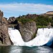 Famous double waterfall, Iceland — Stock Photo