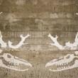 Stock Photo: Evil reindeer skeletons