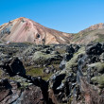Landmannalaugar , rainbow mountains in Iceland — Stock Photo