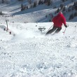 Skier skiing away - 