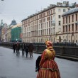 Lady in historical costume — Foto de Stock