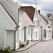 Pictoresque streets of Stavanger, Norway - Stock Photo