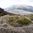 Mountain valley glacier - Iceland, Vatnajokull - Stock Photo
