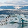 Glacier lake in Iceland - anazing shapes created by global warming — Foto Stock