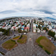 City of Reykjavik, Iceland, from above — Stock Photo