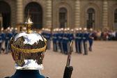 Královská garda ve švédsku — Stock fotografie