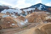 "Landmannalaugar ""rainbow mountains"", popular tourist spot in Iceland — Stock Photo"