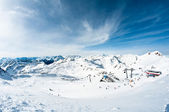 Modern ski resort — Stock Photo