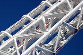 冬の金属の構造 — ストック写真