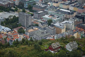 Miniatuur stad, serie tilt-shift foto 's — Stockfoto