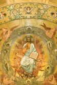 Prachtige fresco van Jezushermoso fresco de Jesús — Foto de Stock