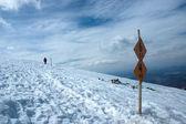 冬季旅游路径 — 图库照片
