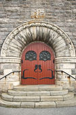 Stone church entrance — Stock Photo