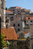 Typical houses in Dalmatian — Stock Photo