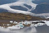 İzlanda - küresel ısınmanın etkisi buzul erime — Stok fotoğraf