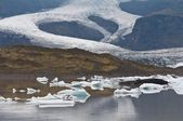 Melting glacier in Iceland - effect of global warming — Stock Photo