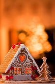 Beautiful gingerbread house — Stock Photo