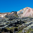 Landmannalaugar , rainbow mountains in Iceland — Foto Stock