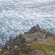Stock Photo: Glacier in the mountains, detail