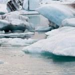 Arctic glacier lake in impression — Stock Photo