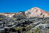 Landmannalaugar , rainbow mountains in Iceland — Stock Photo
