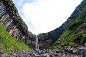Svartifoss, famous Black waterfall, Iceland — Stock Photo