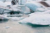 Lago Glaciar Árctico em impressão — Fotografia Stock