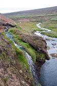 Waterfall in landscape — Stock Photo