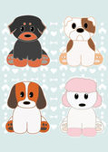 Cute Puppies set 2 — Stock Vector